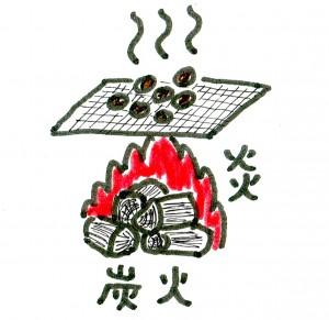 炭火直火式焙煎